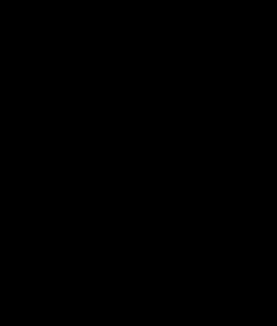 イノシシのシルエットイラスト
